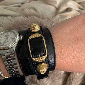 Balenciaga Giant Double Tour Wrap Bracelet